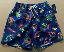 Polo Ralph Lauren Swim Trunks Mens S L Navy Jamaica Pony Pockets Lined $79.50