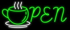 "New Open Coffee Tea Cafe Beer Light Lamp Neon Sign 32"" Poster Decor Artwork"