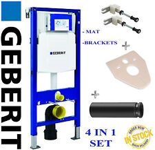 Geberit UP320 DUOFIX 1.12m WC TOILET FRAME STRAIGHT PIPE WALL BRACKETS & MAT