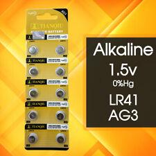 10 x LR41 Battery 1.5V Alkaline Button Cell Batteries 192/AG3/392 Mercury FREE