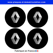 sticker Renault noir pour cache moyeu de jante (lot de 4)