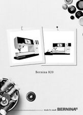 Bernina 820 Sewing Quilting Machine Owners Instruction Manual