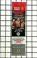 UFC SEALED PACK 2010 Topps UFC Main Event Cards 1 RACK PACK 11 CARDS AUTO RELIC?