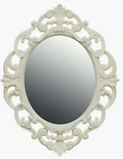 Cream Ornate Oval Baroque Mirror NEW 30cm x 40cm WALL MOUNTABLE