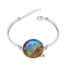 Eagle silver Nebula Galaxy Bracelet Photo Glass Cabochon Tibet silver Bracelets