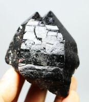 265g Natural Rare Beautiful Black QUARTZ Crystal Cluster Mineral Specimen