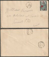 Canada EMSDALE ON  Split Ring Queen Victoria 2c Map Deep Blue 1899