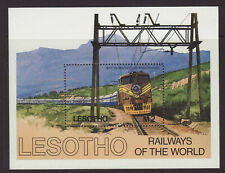 1984 Lesotho Railways of the World MS Unmounted Mint SGMS610