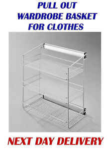 SIDE PULL OUT SHELVES WARDROBE FITTING ACCESSORIES NW-16