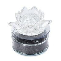 Home Decor Transparent Crystal Lotus Solar Rotating Base Karelian Shungite Stone