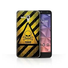 STUFF4 Phone Case for Alcatel Smartphone/Hazard Warning Signs/Protective Cover