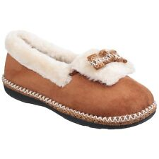 Fleet & Foster Duffy Faux Suede Classic Slip On Slippers Ladies UK 3-8 Womens