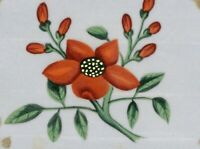 Orange Flower Pith Painting – Original early 19th-century watercolour painting