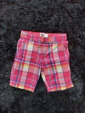 Girls Adjustable Plaid Shorts Size 10 By So.