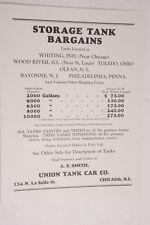 1927 Lamson Goodnow Storage Tank Bargains Ad Chicago IL- Ephemera L106K