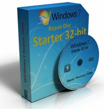 Windows 7 Starter 32 Bit Re-Install Restore Repair Boot Disc Recovery DVD Disk