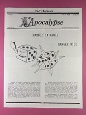 Harry Lorayne's APOCALYPSE - Magicians Newsletter  Vol.17 / No.5 - 1994 - Magic