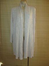 NEW Sample Long Sandy Beige knit Cardi Jacket size 14-16
