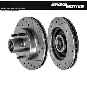 Front Drill And Slot Brake Rotors For Chevy S-10 GMC Jimmy Sonoma 2WD