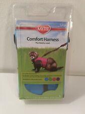 Kaytee Small Animal Harness & Stretchy Leash Sz Large Blue New