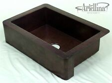 Ariellina Farmhouse 14 Gauge Copper Kitchen Sink Lifetime Warranty New AC1803