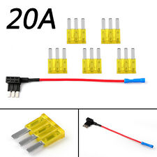 1× Micro3 Fuse Automotive Atl 3 Prong Blade Fuse Holder + 5 × 20A Micro3 Fuse Ue