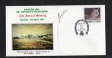 Broken Hill St Patrick's Race Club Brushmen of the Bush Artist Signed Cover 1981