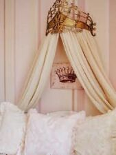 NEW STUNNING Victorian Baroque Ornate Scroll GOLD Metal BED CROWN CORNICE TESTER
