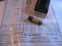 Miller 7142 Coil Tunable Core Transformer 4.5MHz Trap - NOS Qty 1