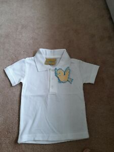 Brand New Baby Boy White Polo Top age 6 - 12 month BNWT Larkwood school polo top