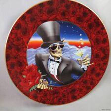 GRATEFUL DEAD JERRY GARCIA 24K GOLD PLATE ART skull 80s STANLEY MOUSE Roses 70s