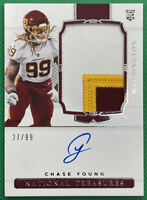 2020 National Treasures Chase Young RC SSP RPA AUTO 3 Color TRUE RPA!! #171