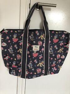 Cath Kidston Disney Mickey Mouse Overnight Bag Minnie Patches Travel Handbag