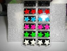 PRETTY  ENAMEL  STAR   POST  EARRINGS