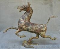 """13 """"Ancien dynastie chinoise en bronze à cheval représentant sculpture de bête"""