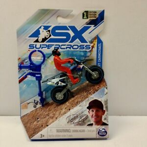 2021 SPIN MASTER Ricky Carmichael Yamaha SX Supercross 1/24 Motorcycle + Figure
