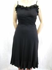 Metalicus Size 8 Black Slinky Sexy LBD Dress