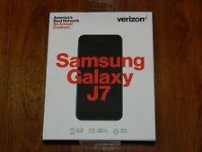New - Verizon Samsung Galaxy J7 4G LTE Octa-Core Black 16GB PREPAID SMJ737VZKPP