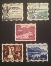 Schweiz Pro Patria 1954 Mi-Nr. 597-601 gestempelt