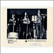 David Peel 1970s Signed Repro John Lennon & Yoko Ono Apple Promo Photo (USA)