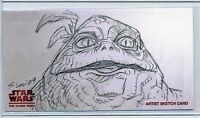 ZIRO the HUTT Topps STAR WARS CLONE WARS Widevision ANIMATOR SKETCH by STEW LEE