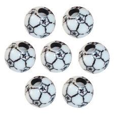 "60 Soccer Beads 12mm 1/2"" Sports Crafts Jewelry Boys Girls Black/White ABCraft"