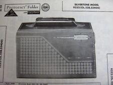 SILVERTONE DUR-PAC 9222 TRANSISTOR RADIO PHOTOFACT