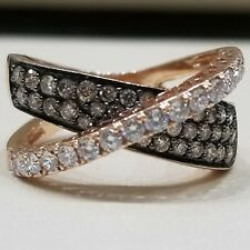 $4000 AUTHENTIC LEVIAN CROSSOVER RING CHOCOLATE DIAMOND 14K ROSE GOLD - WOW!