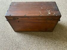 Vintage Industrial Storage box in Dark Wood