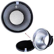 iShoot 18cm Metal Reflektor Softbox +Wabengitter für Bowens Studioblitz Strobe