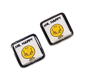 Mr Happy Cufflinks, Mr Men, business, weddings, fashion