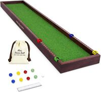 Gosports Shuffleboard And Curling 2 In 1 Board Game, And Mini Tabletop Bocce Gam