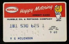 1960 Humble Oil Credit Card♡Free Shipping♡cc68