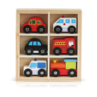 Wooden Toys Cars Bus Engine Emergency Vehicles Early Learning Educational Toy